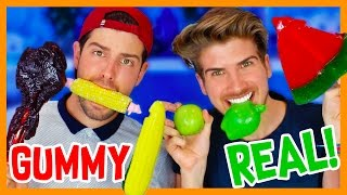 GUMMY FOOD vs. REAL FOOD 3!