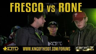 KOTD - Rap Battle - Fresco vs Rone