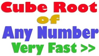 how to find cube of a number using vedic maths