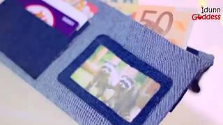 Cara membuat dompet dari celana jins bekas