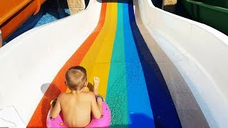 Water slide for little kids. Bogdy from KIDS TOYS CHANNEL . Short video
