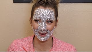 A Full Face Of Rhinestones
