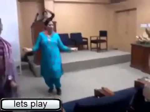 Pakistani Lady Teacher Dance 2014.