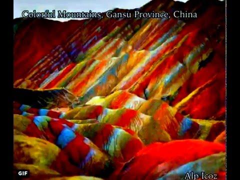 The Danxia Landform Rainbow Mountains, Gansu Province, China