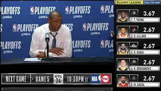 Doc Rivers postgame reaction | Warriors vs Clippers Game 4 | 2019 NBA Playoffs
