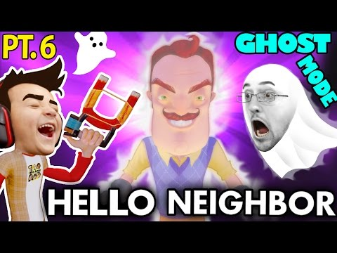 HELLO NEIGHBOR GHOST MODE Mod Alpha 1 & 2 Tips & Tricks FGTEEV Alpha 3 Next