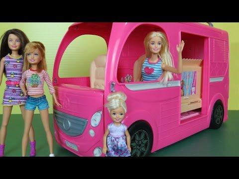 CAMPER Built In POOL PLAY Picnic Hammock Barbie Chelsea Stacie Skipper Outdoors RV Fun Adventure