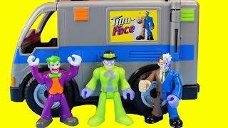 Imaginext Two Face Van with The Riddler & Two Face Also Joker van Gotham city Batman