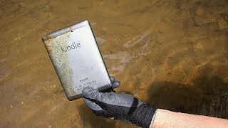 River Hunting - Found Purple Unicorn, Kindle Tablet and Free Drinks in the River!