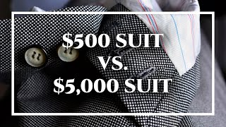 Difference Between Cheap $500 Custom Suit & $5,000 Tailor-Made Bespoke  Suits