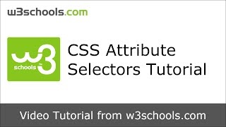 W3Schools CSS Attribute Selectors Tutorial