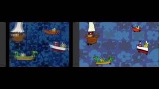 Spongebob original intro vs Spongebob Dog toons Intro