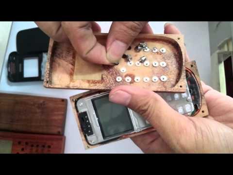 hướng dẫn tháo lắp vỏ điện gỗ cho điện thoại giá rẻ