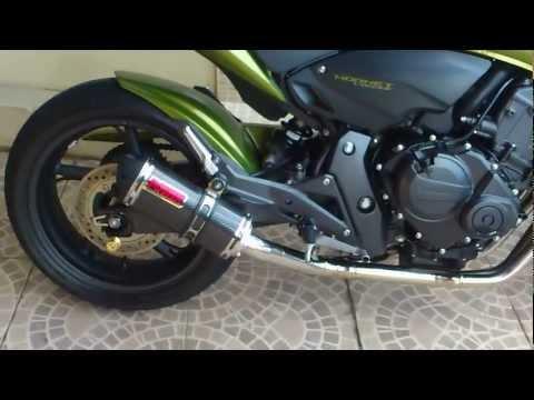 Hornet 2012 verde com ronco sinistro
