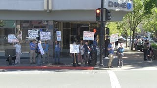 350 Marin protest of Chase Bank in San Rafael, CA