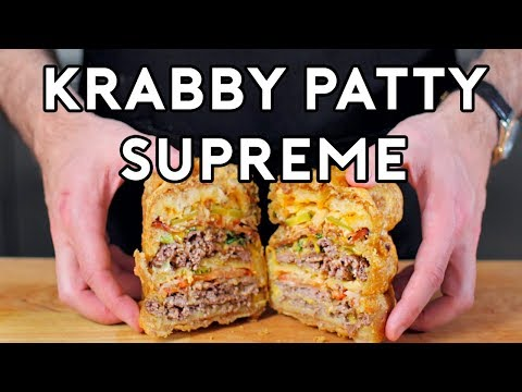 Binging with Babish Krabby Supreme from Spongebob Squarepants
