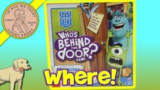 Disney Pixar Monsters University Who's Behind The Door Kids Game