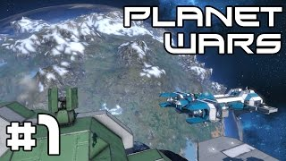 Space Engineers Planet Wars - A Heavy Landing! #1