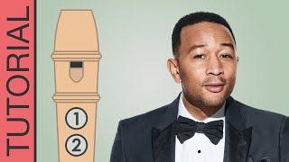 All of Me (John Legend) - Recorder Notes Tutorial