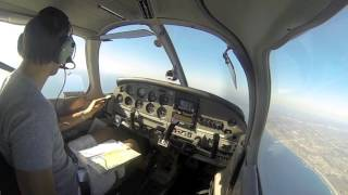 First Flight as Private Pilot - PA-28 - Gillespie Field