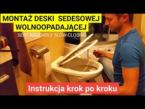 Jak zamontować deskę wolno opadającą WC