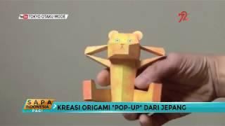 Kreasi Origami Pop Up dari Jepang