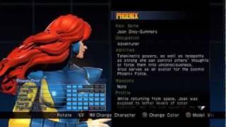 Ultimate Marvel vs Capcom 3 ✯ Alternate Costume ~ Phoenix
