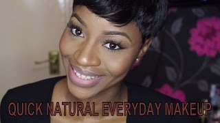MAKEUP| QUICK NATURAL EVERYDAY MAKEUP + BROWS + NUDE PINK LIPS