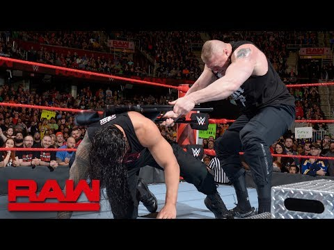 Xxx Mp4 Brock Lesnar Brutalizes Injured Roman Reigns Raw March 26 2018 3gp Sex