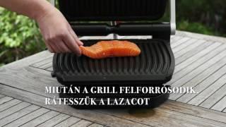 Grillezett lazac készítés Tefal Optigrill kontaktgrillben