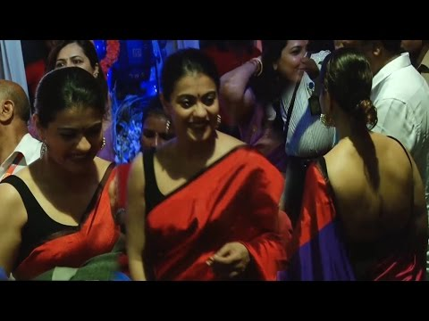 Xxx Mp4 Hot Kajol In Backless Blouse At Durga Pooja 2016 3gp Sex