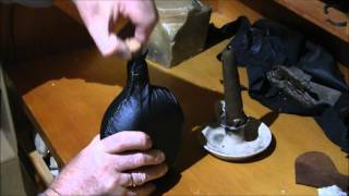 Making A Leather Covered Saddle Flask By Keith H  Burgess Part Three Final