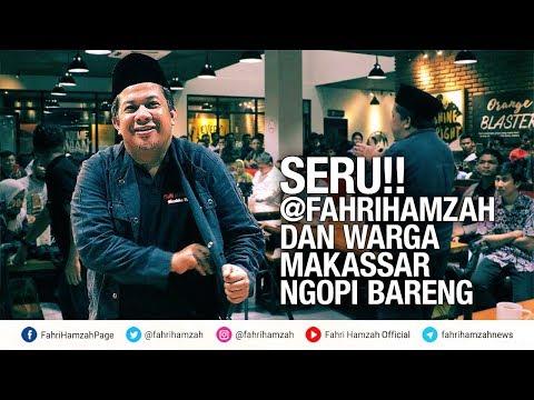 Seru!! Fahri Hamzah dan Warga Makassar Ngopi Bareng