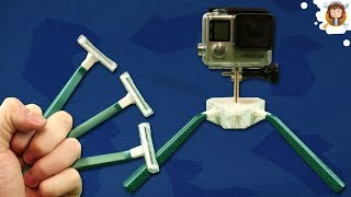 How to make a Mini Tripod - (GoPro / Life Hack)