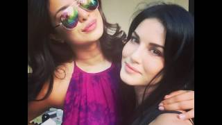 PriyankaChopra SunnyLeone Selfie