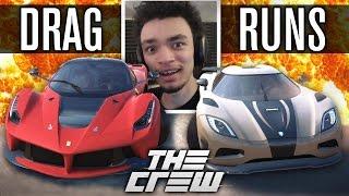 LAFERRARI VS AGERA R | The Crew | SALT FLAT DRAG RUNS 2 (Drag Races)