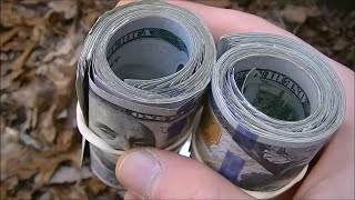 Found $5,000.00 CASH Metal Detecting Abandoned Love Shack. WHOA!