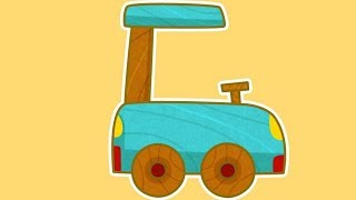 Car Toons Smart. Vehicles for kids in car cartoon.