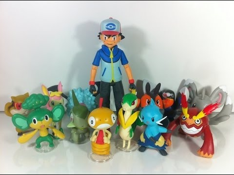 Review Pokémon Black & White Figure Series 02 & 03 with Ash JAKKS Pacific