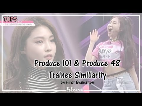 PRODUCE 101 & PRODUCE 48 Trainee Similiarity on First Evaluation 1