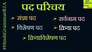 Class 10 Hindi Grammar Pad Parichay संज्ञा पद   सर्वनाम पद   विशेषण पद   क्रिया पद   क्रियाविशेषण पद
