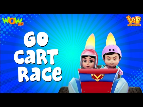 Go Cart Race - Vir :The Robot Boy WITH ENGLISH, SPANISH & FRENCH SUBTITLES