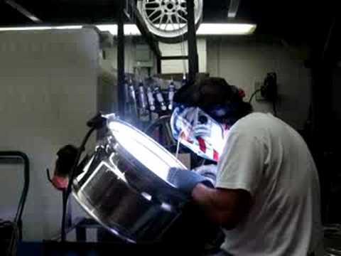 Solda tig em roda de alumínio