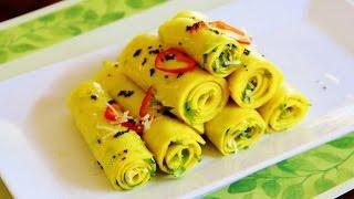 Pressure Cooker Khandvi Video Recipe by Bhavna   Quick & Easy