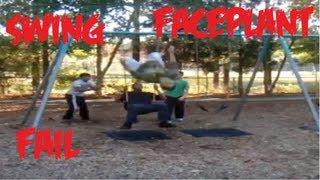 Swing faceplant fail - Winorfails