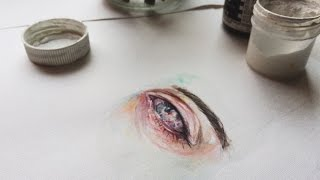 how to draw an eye | watercolor tutorial