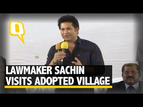 The Quint: Sachin Visits Adopted Village in Andhra To Check Development