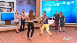 Pedro Santana with Deppy dancing Bachata & Salsa on Alpha TV