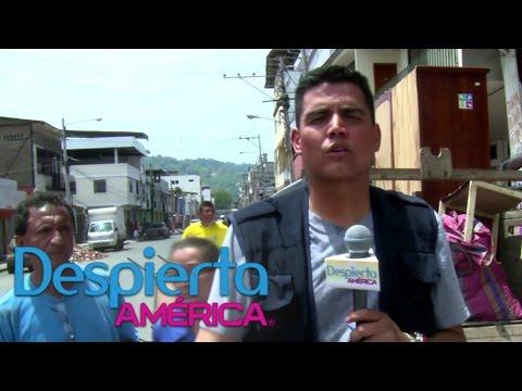 Recorrido por las calles más afectadas por el terremoto en Ecuador
