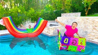 Last to Get Across Fastest Inflatable Boat Wins $10,000 - Sis vs Bro Challenge